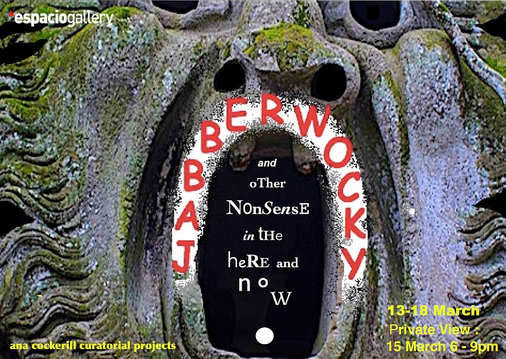 Invitation/flyer for the Jabberwocky exhibition.