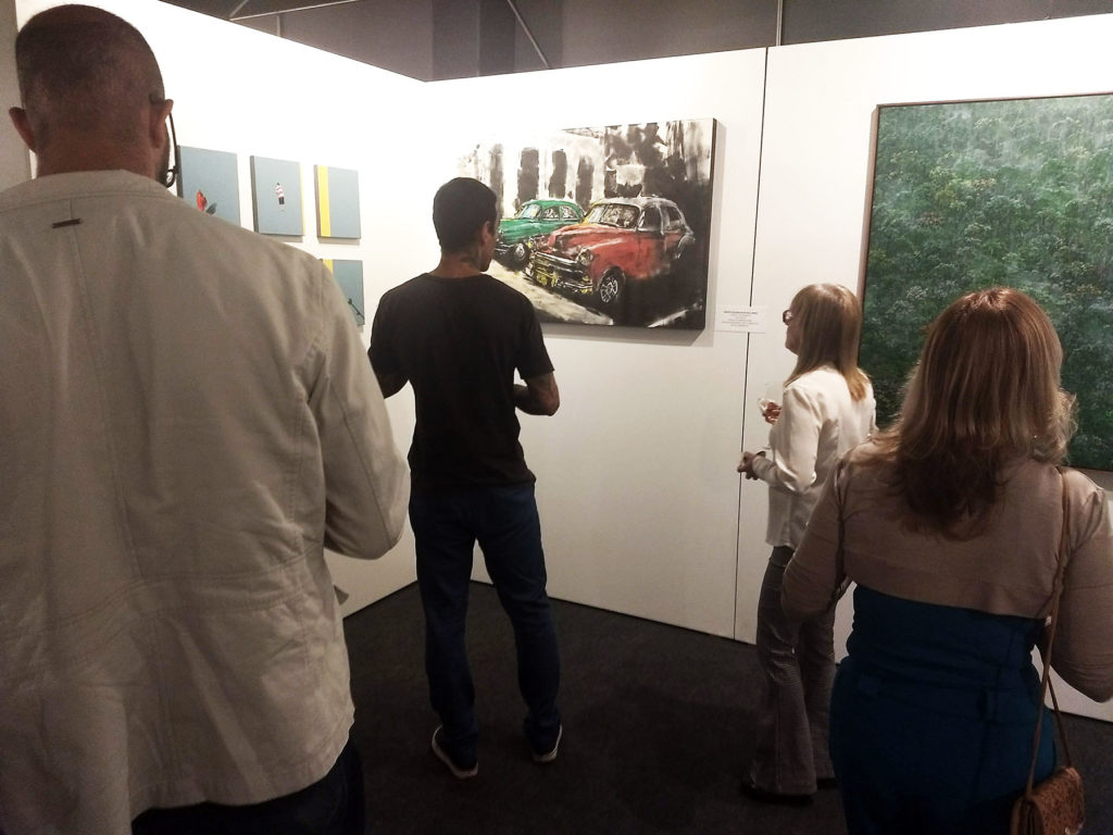 Visitors at the opening night of Salão das Artes SESC-DF (June, 26th, 2018).